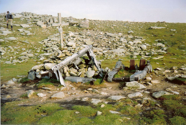 Memorial and Wreckage of Aircraft