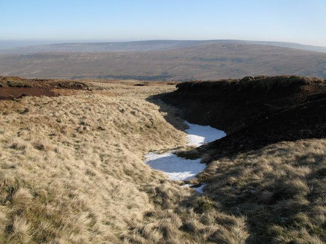 Frozen peat haggs on Chapelfell Top (2)