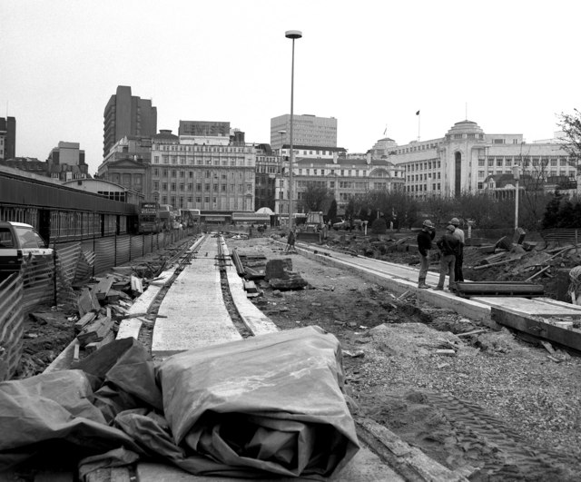 Site for Piccadilly Gardens Metrolink station
