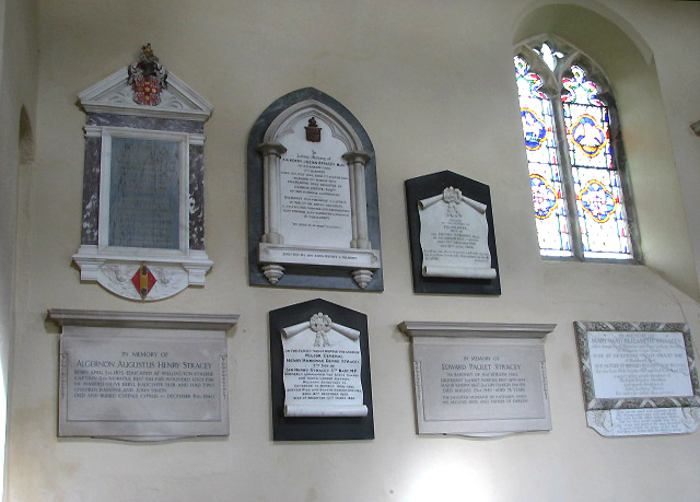 The church of All Saints - wall monuments