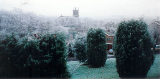 Christ Church in Winter, New Mill