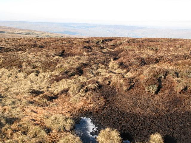Peat haggs on Harthope Moss