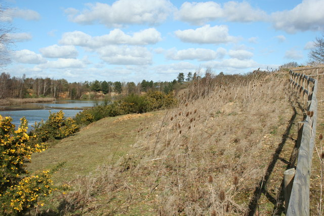 Sand and gravel pit, near Stanway