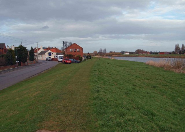 The River Trent embankment West Butterwick