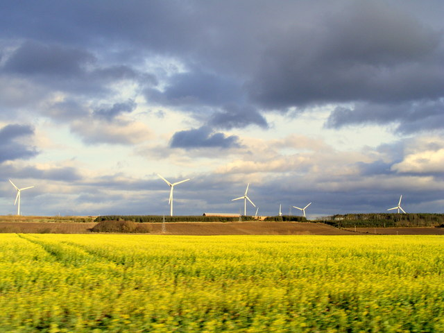 Windfarm  at  Rettie Farm