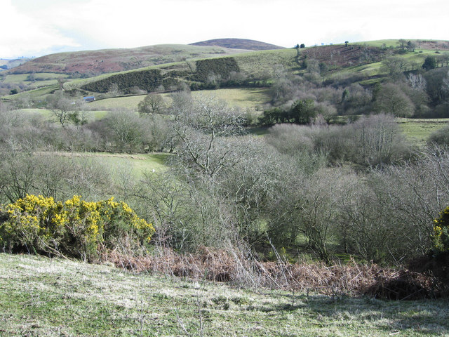 Looking east to Fishpool Farm
