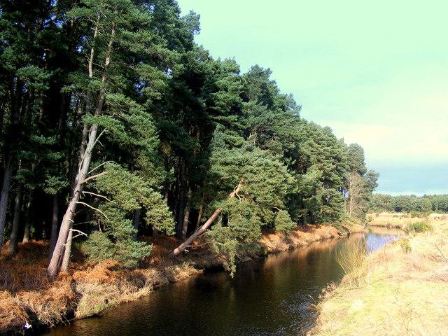 The River Lossie at Arthur's Bridge