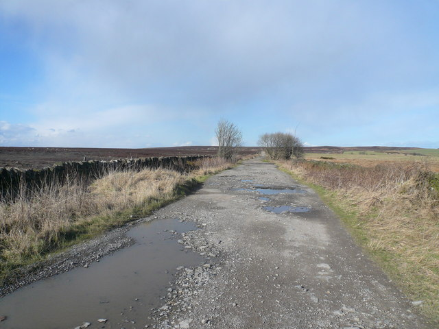 Beeley Moor - Bridleway View approaching Beeley Triangle