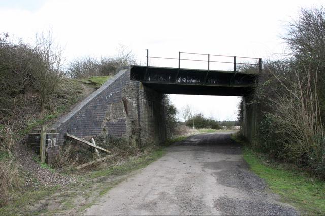 Disused railway bridge from below