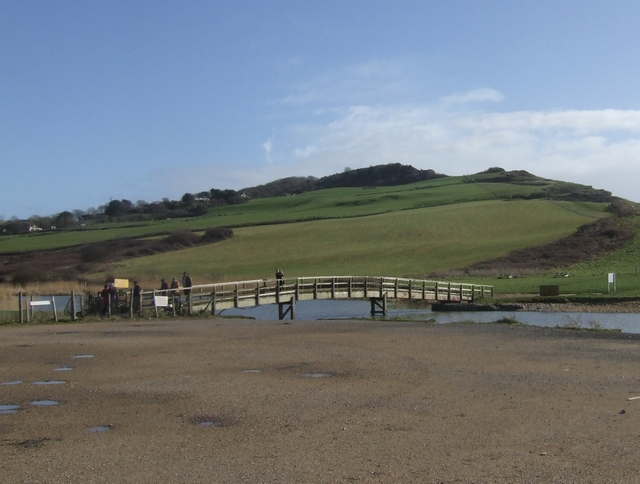 Footbridge over the River Char, Charmouth