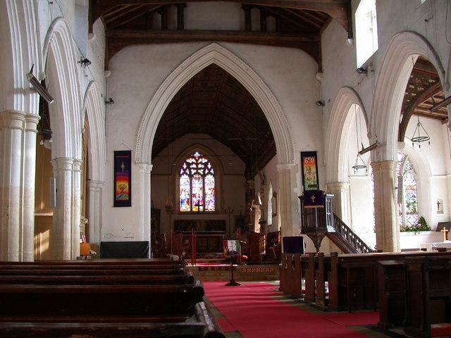 All Saints' Church, Haslingfield - interior