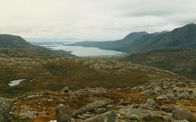 View west northwest from Beinn Liath Mhor