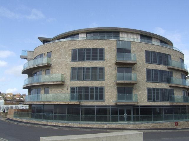 Modern apartments next to Bridport Harbour