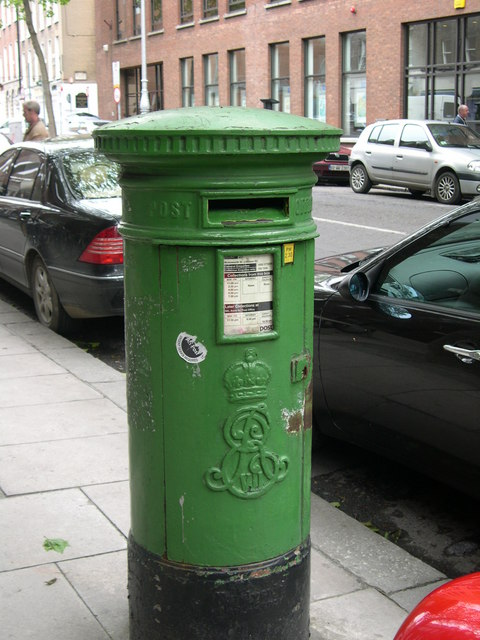 Pillar box on Molesworth Street, Dublin