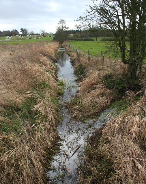 Junction of drainage ditches