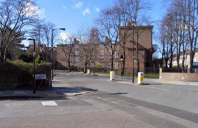 Crayford Road into Carleton Road, London N7