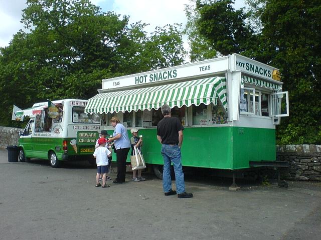 Food Vendors at Devils Bridge Car Park.