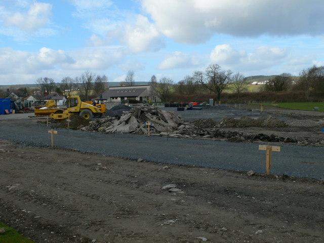 Construction site, Corwen