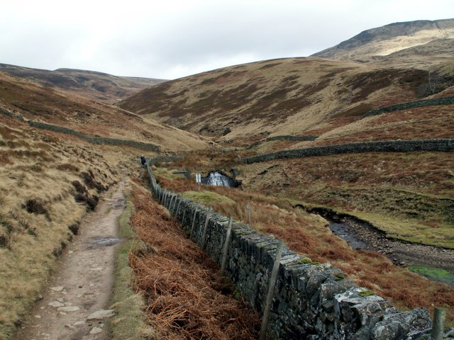 William Clough from the northern arm of Kinder Reservoir