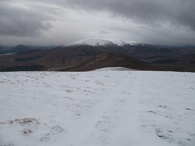 Southwest ridge of Beinn Sgiath