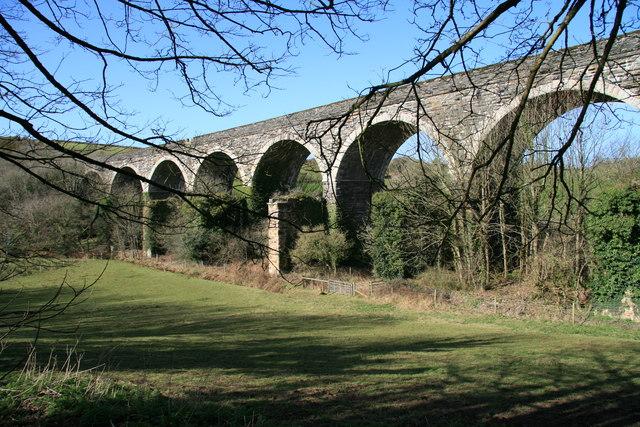 Railway viaduct near Coombe