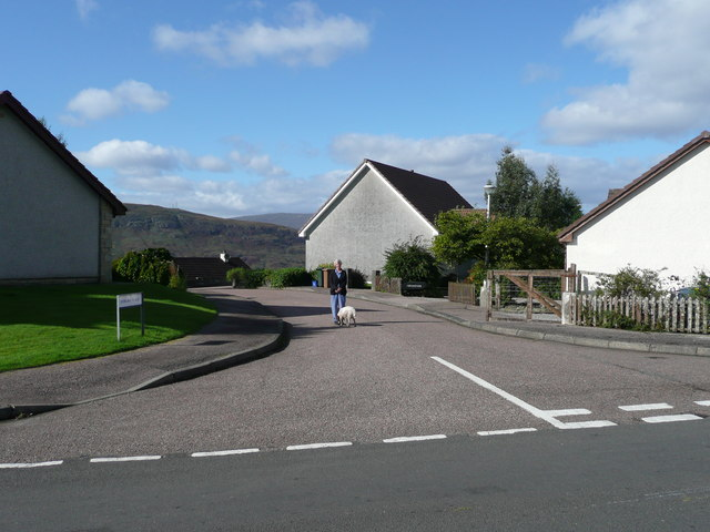 Housing estate above Fort William
