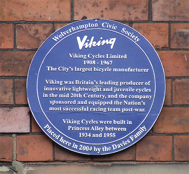 Plaque - Viking Cycles Limited, Wolverhampton