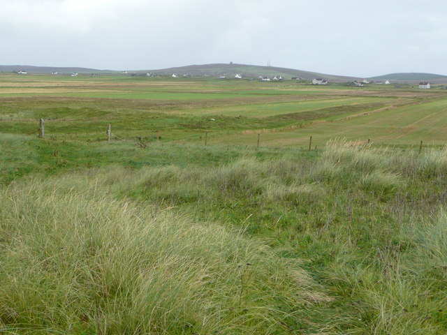 Baile Mór across the fields