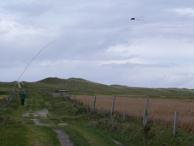Scarecrow above Machair Leathann