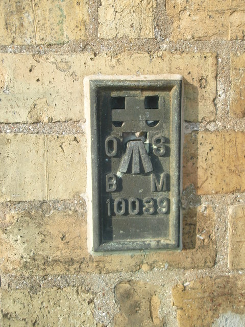 OS Flush Bracket Bench Mark Alconbury Weston