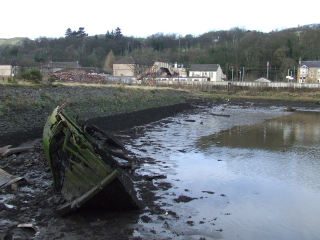 Wreck at Bowling Harbour