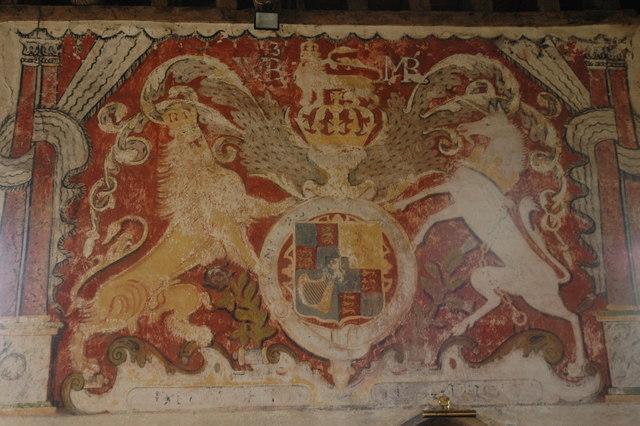Wall painting, Teddington Church