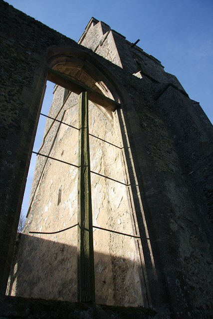 Former stained glass window