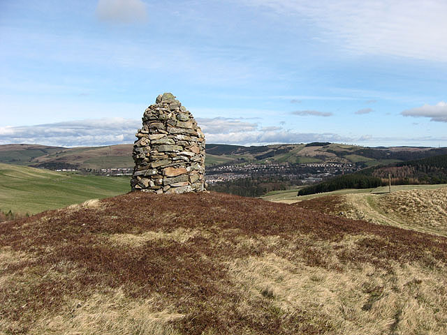 A cairn by the Southern Upland Way
