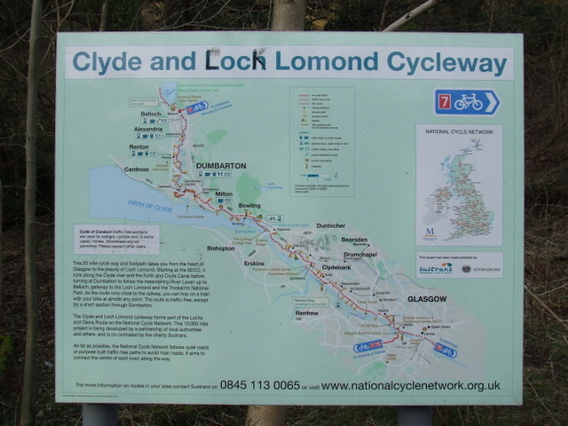 National Cycle Network route map