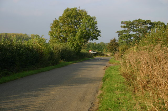 Approaching the A4129 junction