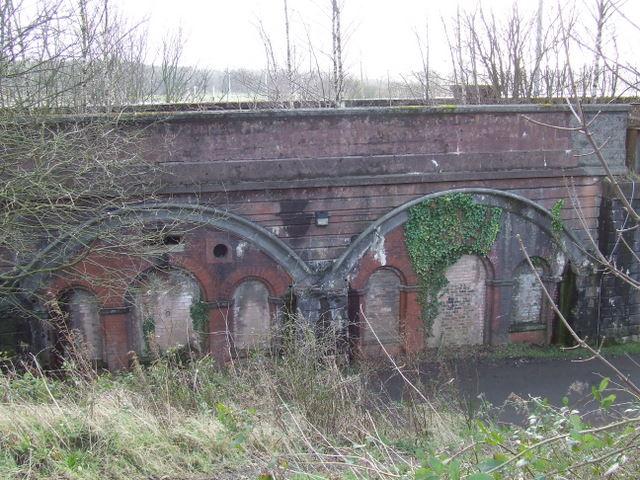 Bricked-up railway arches