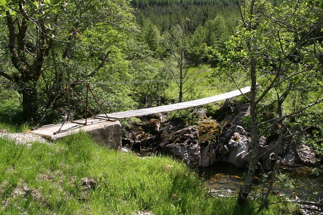 Foot bridge just south of Corryhully