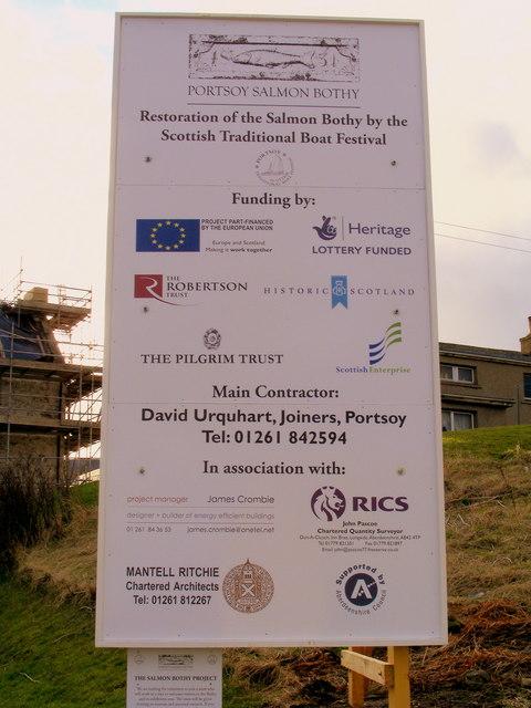 Restoration of The Portsoy Salmon Bothy
