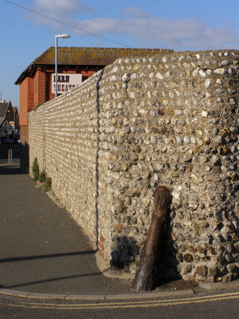 Cannon set into wall in Steyne Road, Seaford