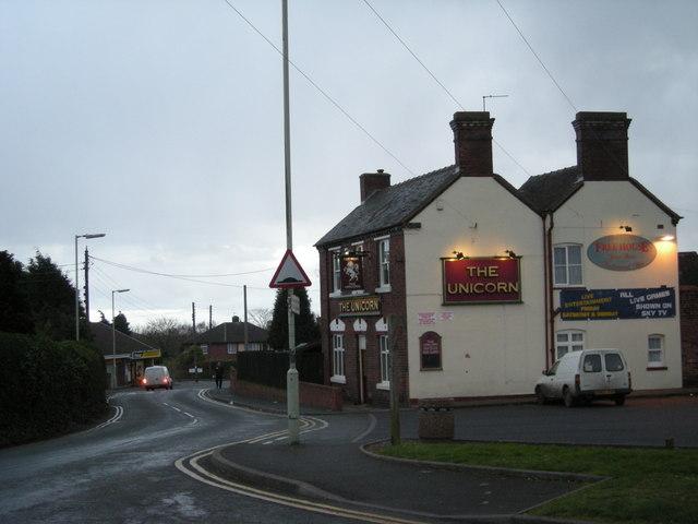 The Unicorn at Little Dawley.