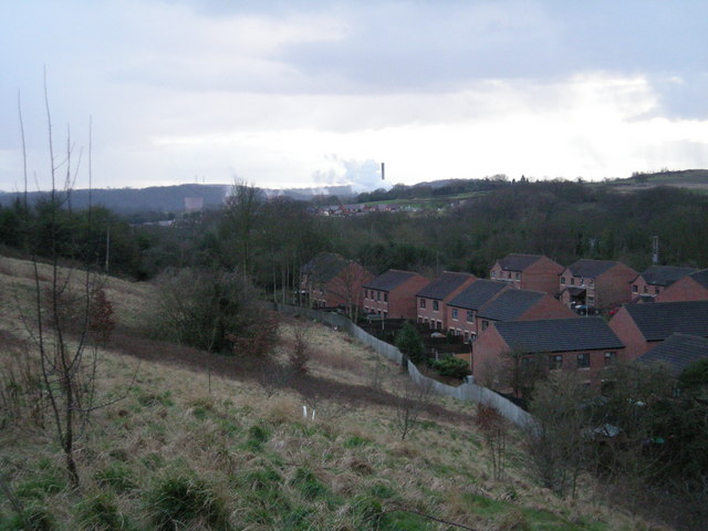 Doseley with Ironbridge Power Station in the background.