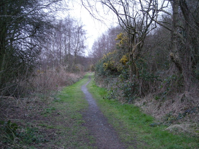 Further along the footpath to Horsehay.