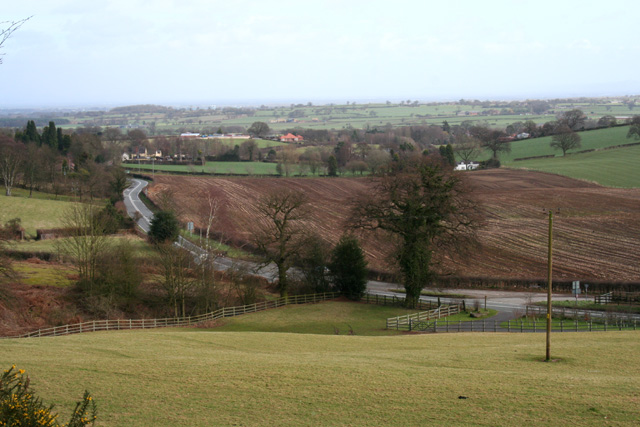 View south east from Bickerton Hill