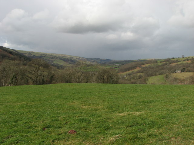 View up Nant Bran valley