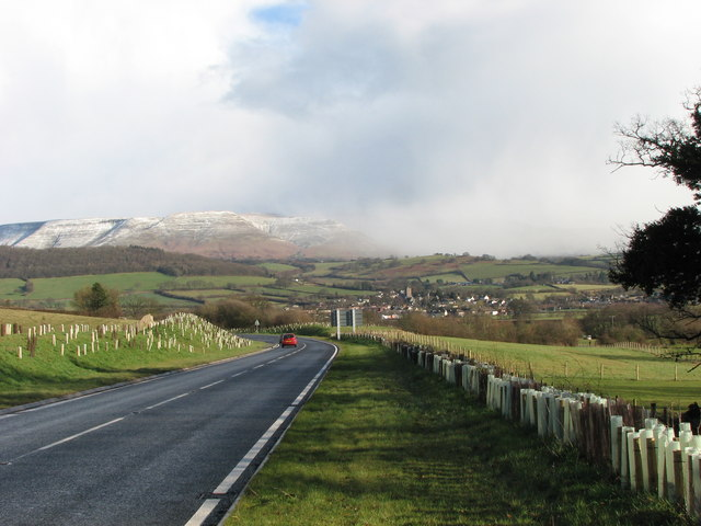 The new bypass at Bronllys
