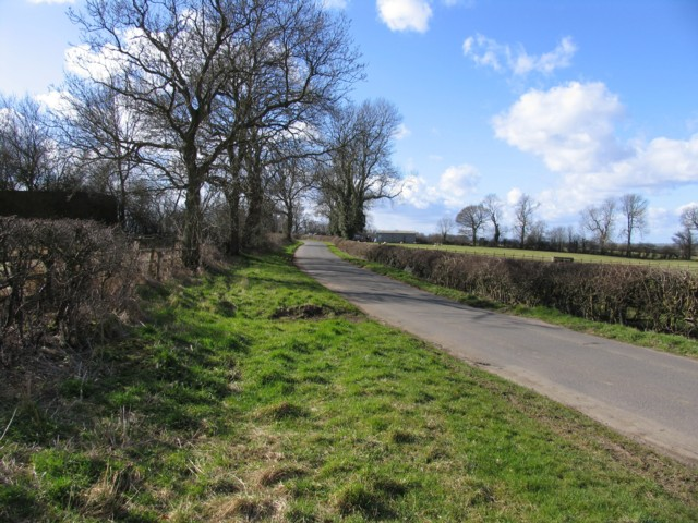 Pasture Lane towards Gaddesby