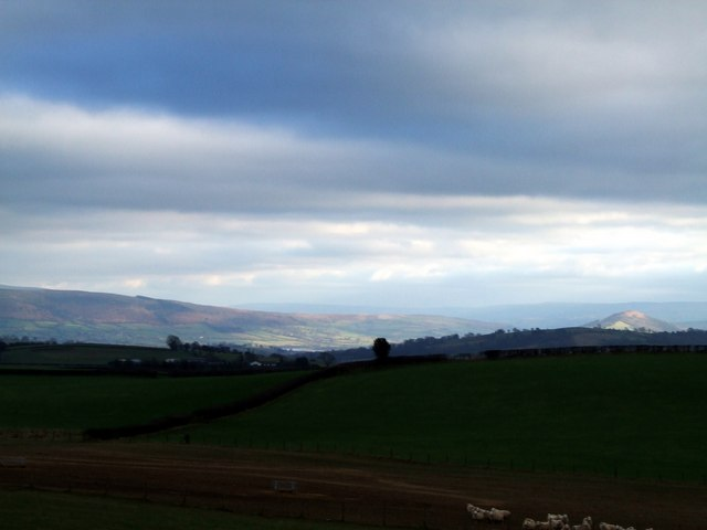 Black Mountains with Mynydd Troed to the right