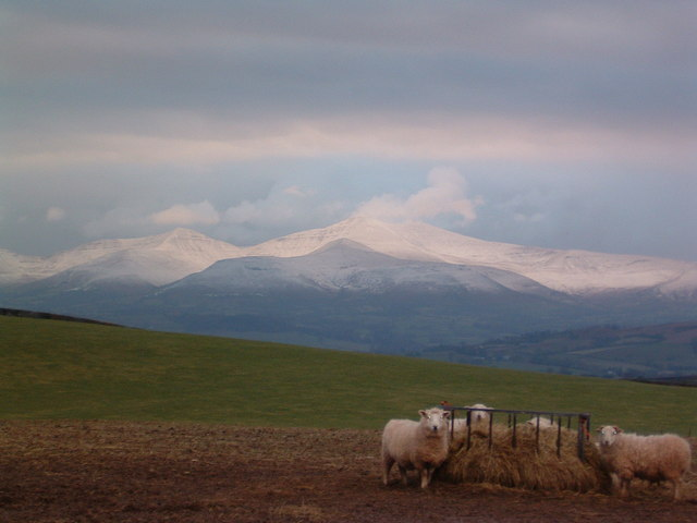 View of the Brecon Beacons