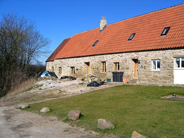 Bearpark Hall Farm: buildings being converted to cottages